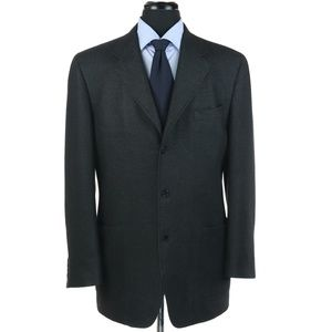 Canali Cashmere Silk Blend 3-Button Sport Coat 42L